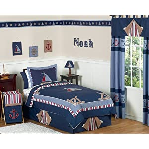 51UC-RjAzxL._SS300_ Nautical Bedding Sets & Nautical Bedspreads