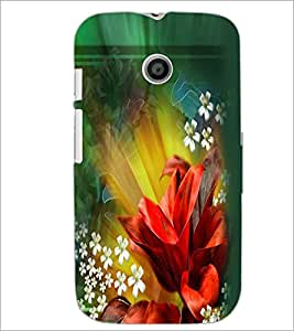 Printdhaba Flowers D-2290 Back Case Cover For Motorola Moto E