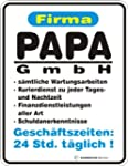 PAPA GMBH 24 STD T�GLICH FUNSCHILD AL...
