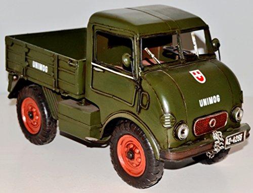 Truck Lorry HGV Metal Model of 1950 Metal Tin Model Green Vintage Truck Around 32 cm 37228