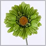 X5 single stem green gerbera artificial silk