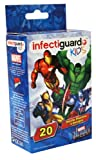 20 Self-Adhesive Band-aids Featuring Captain America, Iron Man, Wolverine and The Incredible Hulk, Marvel Heroes Comic Book Characters Adhesive Bandages Now with InfectiGuard Plus for Kids/Children at Home, Labs, Clinics, Doctor&#039;s Offices, Schools, Daycares, Diaper Bags for Playing and Gym Bags for Sports