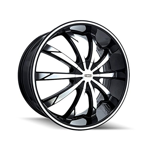 Dip Slack 18 Black Machined Wheel / Rim 5x100 & 5x105 with a 40mm Offset and a 72.62 Hub Bore. Partnumber D66-8705M (Daytona Rims 5x5 compare prices)