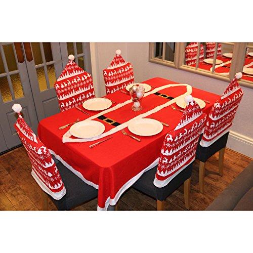 Confezione da 6 Nordico Renna Motivo Natale Coprisedie Decorazione