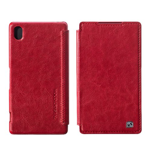 Moon Monkey Lightweight Ultra-Thin Classical Retro Leather Case For Sony Xperia Z2 (Red)