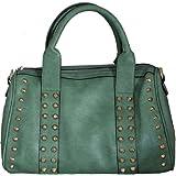 Studded Fashion Shoulder Bag Jade Green