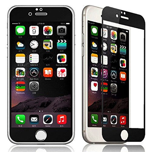 Coolbo Nice Phone Tempered Glass Screen Protector For Iphone 6 4.7 (Front) (Black)