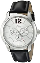 Odin Men's 817-5M Wh  Swistar Precision Quartz Multi-Function Day and Date Leather Strap Watch