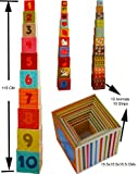 Stacking Boxes Cubes/ Number and Alphabet Blocks Stacking Cups
