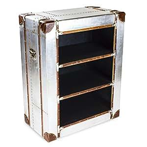 phoenixarts industrie design vintage aluminium regal alu standregal loft sideboard. Black Bedroom Furniture Sets. Home Design Ideas