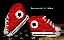 Patucos estilo converse all star Rojos 100% algodón