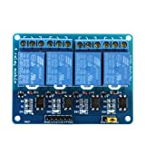 Docooler 5V Active Low 4 Channel Relay Module Board for Arduino PIC AVR MCU DSP ARM