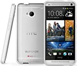SUPCASE Premium Hybrid Protective Case for HTC One M7 Smartphone (White/Clear) - Multiple Color Options