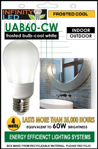 Infinity Ultra 60 Light Bulb - Cool White Frosted, 3W