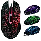 Bestpriceam TM Professional Colorful Backlight 4000dpi Optical Wired Gaming Mouse Mice
