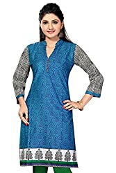 SK Kurtis Cotton Kurtis, Casual Printed Long Cotton Kurtis, Designer Kurtis, Long Kurtis, Casual Kurtis, Cotton Kurtis (Size : X-Large) (SK0361-XL)