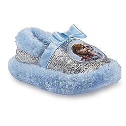 Disney Girls Frozen Scuff Slipper Blue Silver Small 5/6