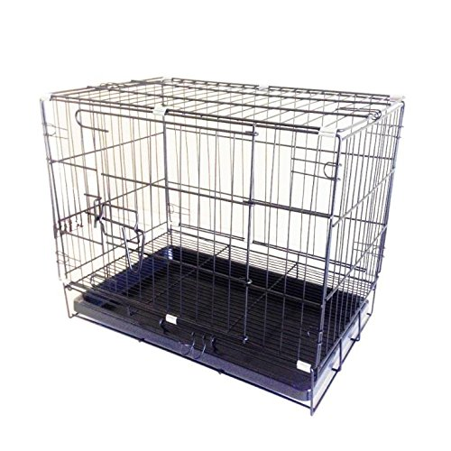 Fixture Displays Pet Folding Dog Cat Crate Cage Kennel w/ Tray Carrier 11970-1 11970-1