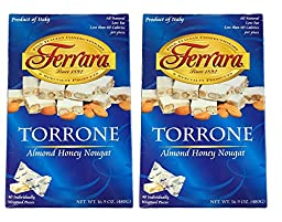 Ferrara Torrone Candy, 40-count Box - Imported From Italy. 2 Boxes.