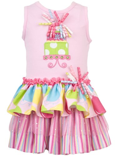Rare Editions Baby Girls Infant Birthday Cake Tiered Dress