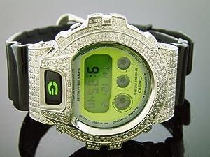 Casio G Shock 5.50ct Full Case Big White Double Brilliant Cut Diamond Watch G/si