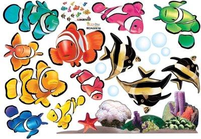 Opiniones de de coral y peces marinos mural wall for Pegatinas de peces