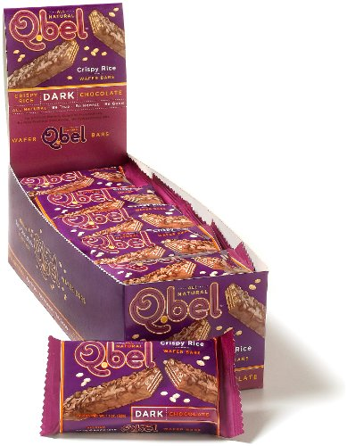 Q.bel Dark Chocolate Wafer Bars, 1.1-Ounce Packages (Pack of 20)