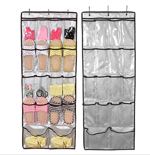 GYMNLJY Griglia porta appeso scarpa 18 sacchetti di sacchetto tessuto deposito Organizer Oxford panno organizzatore scarpa parete PVC