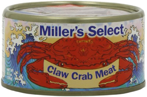 Miller's Select Claw Crab Meat, 6.5-Ounce Tins (Pack of 12)