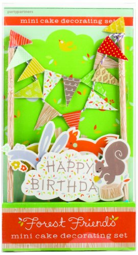Party Partners Design Mini Cake Decor Kit, Forest Friends