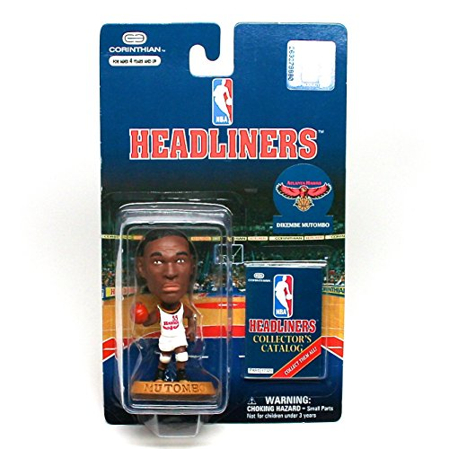 DIKEMBE MUTOMBO / ATLANTA HAWKS * 3 INCH * NBA Headliners Basketball Collector Figure