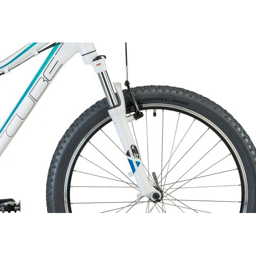 Cube Access WLS white fading blue blue/white (2013) (Frame size: 33 cm) Ladies Hardtail
