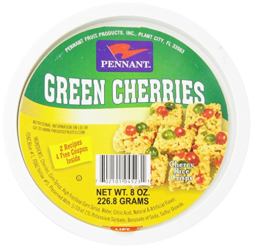 Pennant Green Cherries, 8 Ounce (Pennant Candied Fruit compare prices)