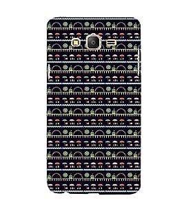 Modern Art Design Pattern lot of Umbrella 3D Hard Polycarbonate Designer Back Case Cover for Samsung Galaxy On7 :: Samsung Galaxy On 7 G600FY