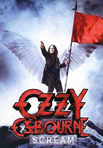 Ozzy Osbourne-Scream-Poster banidera-100% poliestere-dimensioni 75x 110cm
