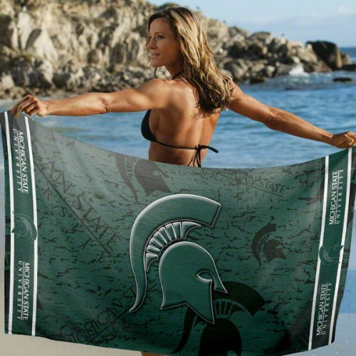 Michigan State Spartans Pool Beach Bath Towel Large 30
