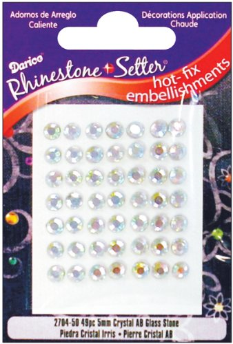 Darice Rhinestone Setter Hot-Fix Embellishments 5mm 49/Pkg: Crystal AB Glass Stone