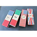 Retro Classic Vintage Paper Stationery Pencil Pen Case For Kids Gift Set USA America Flag