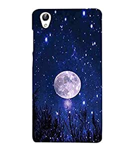 Vizagbeats Full Moon Blue Sky Back Case Cover for Oppo F1 Plus