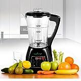 NutriChef PKSM240BK 3-in-1 Digital Electronic Soup Cooker, Blender, Juice Drink Maker, Black