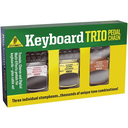 Behringer Tpk989 Keyboard Trio Tremolo, Chorus And Digital Multi-Fx Pedals For Keyboards Including Cables