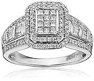 14k White Gold Diamond Bridal Engagement Ring (1cttw, I-J Color, I1-I2 Clarity)