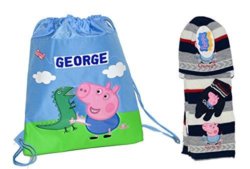 George Pig zainetto vela + set Cappello, sciarpa e guanti novità