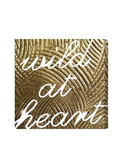 "Oliver Gal ""Wild Gold Heart"" Canvas Art"