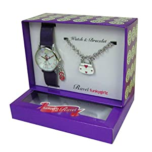 RAVEL R3302 - Reloj analógico de cuarzo para niña con correa de plástico, color morado