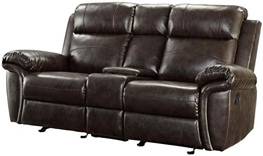 Coaster Home Furnishings 601042 Transitional Motion Loveseat, Brown