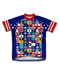 American Pride Short Sleeve Cycling Jersey for Women