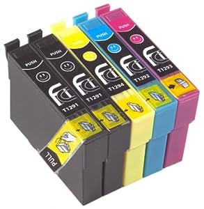 5 epson stylus compatible cartouche d 39 encre pour sx235w. Black Bedroom Furniture Sets. Home Design Ideas
