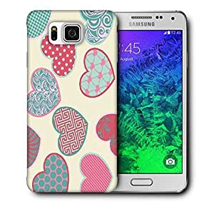 Snoogg Multicolor Heart Printed Protective Phone Back Case Cover For Samsung Galaxy SAMSUNG GALAXY ALPHA