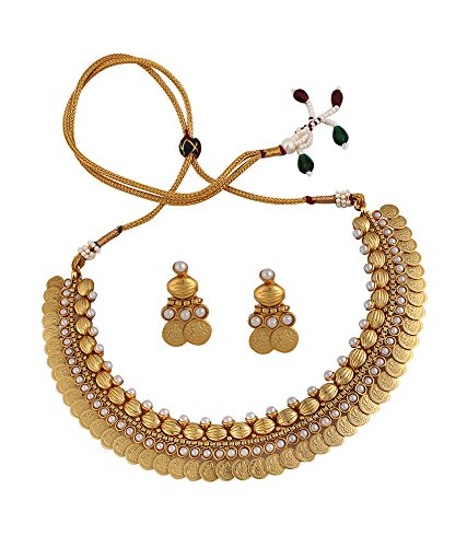 Sthrielite Traditional Antique Lakshmi Coin Necklace Set